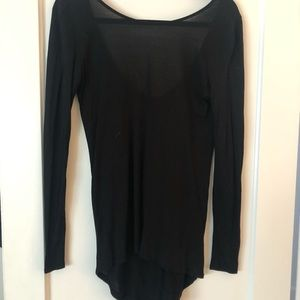 Tops - Black long sleeve blouse